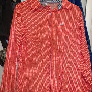 Orange Cinch Shirt womens